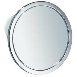 InterDesign Gia Metal Suction Shower Shaving Mirror for Bathroom, Vanity, Bathtub, Wall, 5.75 ...