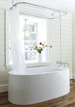 Clawfoot tub Shower Liner/Frost – Heavy Duty 10 Gauge 180×72 Mildew Resistant No Smel ...
