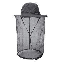 Sunyastor Mosquito Head Net Hat, Breathable Sun Hat Bucket Hat with Net Mesh Protection from Ins ...