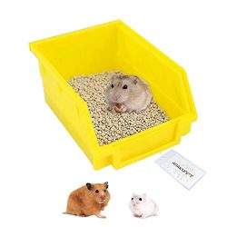 Hamster Toilet, Pet Plastic Potty Box Sauna Bathroom Bathtub Litter Tray Corner for Hamster, Ger ...