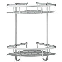 Deekec Bathroom Corner Shower Shelf Shower Storage Durable Aluminum 2 Tiers Shampoo Basket Holde ...