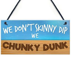 XLD Store Funny Hot Tub Skinny Dip Chunky Dunk Sign Home Friendship Gift Hanging Plaque Best Fri ...