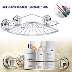 GEMITTO Bathroom Shower Caddy Shelf, Heavy Duty Stainless Steel Corner Shelf, Wall Mounted Bath  ...