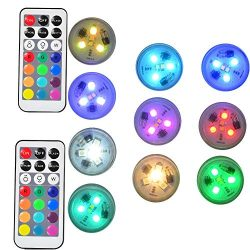 URAYS Submersible Led Lights,Underwater Waterproof Bath Lights with Remote Control for Hot Tub,V ...