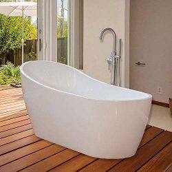 WOODBRIDGE B-0001 WHITE Freestanding Bathtub B-0001/BTA1508, 67″