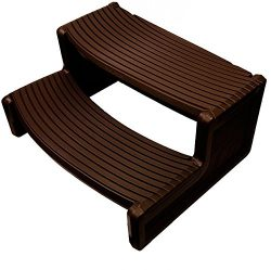 For Spa and Hot Tubs Confer Plastics HS2 Espresso Resin Handi-Step