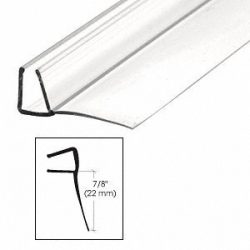 CRL Shower Door Polycarbonate with 90 degree 7/8″ Long Vinyl Fin Seal for 3/8″ Glass ...