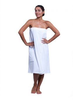 Boca Terry Womens Spa Wrap – 100% Cotton Spa, Shower, Bath and Gym Towel w Snaps – M ...