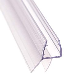 Aulett Home Frameless Shower Door Bottom Seal with Drip Rail – 3/8″ x 36″ Swee ...