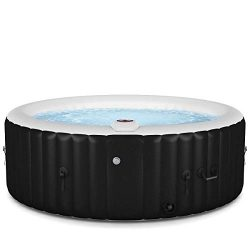 Goplus 4-6 Person Outdoor Spa Inflatable Hot Tub for Portable Jets Bubble Massage Relaxing with  ...