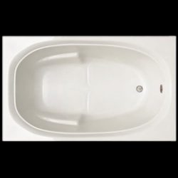 Signature Bath LPI236-S Drop-in Soaking Bathtub, White