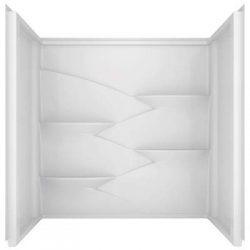 Delta Faucet 245047 60 x 32 in. High Gloss Acrylic Bathtub Wall Set – Bright White44; 3 Piece