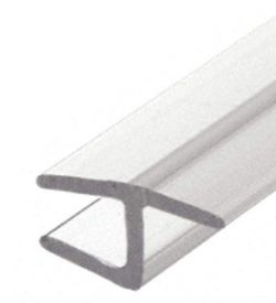 """CRL Polycarbonate""""h"""" Jamb with Hard Leg for 180 Degree and 3/8″ Glass –  ..."""