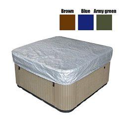 dDanke Oxford Fabric All-Seasons Square Hot Tub Cover Square Spa Cover for Outdoor Sun Protectio ...