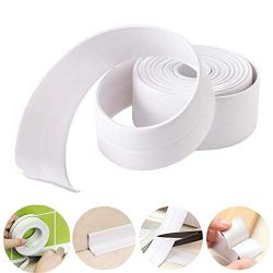 Caulk Strip Waterproof Caulking Tape White, PVC Self Adhesive Caulk Tape for Bathtub Kitchen Bat ...