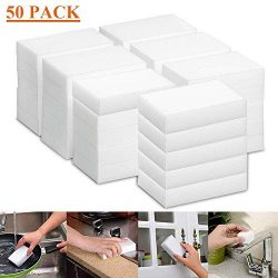 Hello22 Magic Cleaning Eraser Sponge, 50 Counts Melamine Sponges in Bulk – Multi Surface P ...