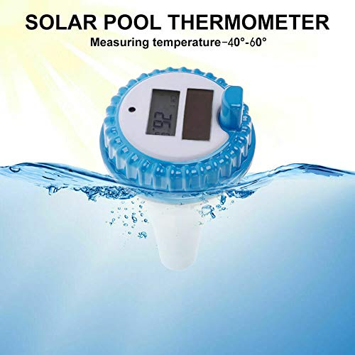Floating Buoy Pool Thermometer Solar Powered Wireless Digital Swimming Pool Thermometer with Ala ...