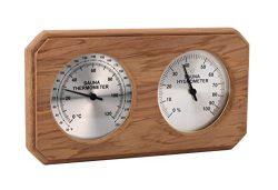 Cedar Encased Thermometer/Hygrometer C-F (10″ x5 1/2″)
