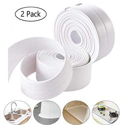 Caulk Strip, Ztent PE Self Adhesive Tape Sealing Tape Strip Waterproof Wall Sealant Caulking Rol ...