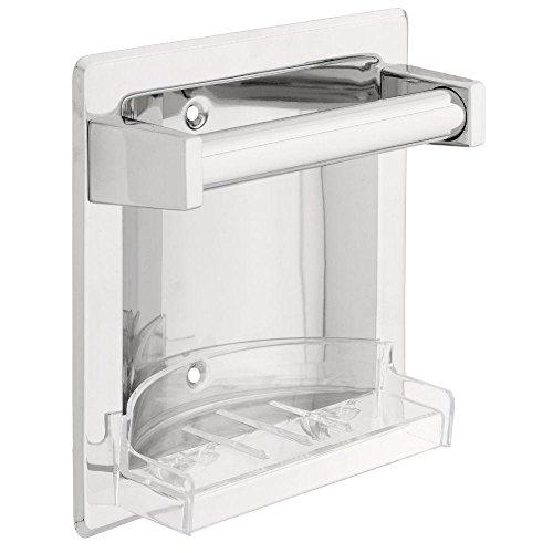 Franklin Brass D2498PC Futura, Bath Hardware Accessory, Recessed Soap Dish with Bar–Chrome ...
