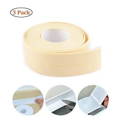 Caulk Strip PE Self Adhesive Tape Waterproof for Kitchen, Bathtub, Toilet, Bathroom, Shower, Sin ...