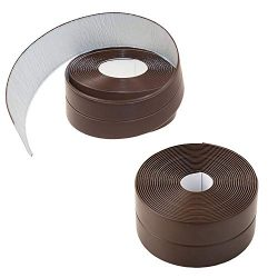 Gizhome 2 Pack Caulk Strip PE Self Adhesive Tape for Bathtub Bathroom Shower Toilet Kitchen and  ...