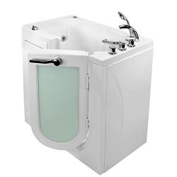 Ella's Bubbles OA2645D-R-D Mobile Air and Hydro Massage Acrylic Walk-In Bathtub with Right ...