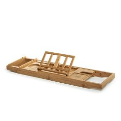 Prosumer's Choice Bamboo BathtubCaddy withExtra-Long Sides and Built-inPhone/Tablet and ...