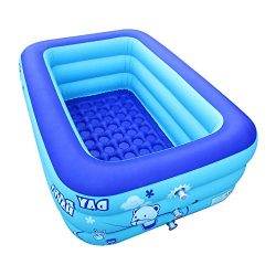 ECOiNVA Inflatable Swimming Pool Hot Tubs Bathtubs Inflated Tubs with Electric Air Pump Inflator ...