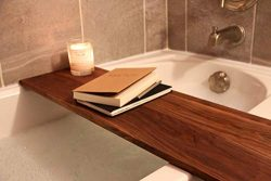 Adjustable Bath Shelf, Fits all standard size tubs, Wooden Bath Caddy, Bath Caddy Tray, Luxury B ...