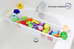 Hermosa Collection Kids Bath Toy Organizer and Bathtub Storage Basket