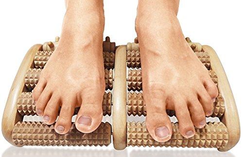 TheraFlow Dual Foot Massager Roller (Large). Relieve Plantar Fasciitis, Stress, Heel, Arch Pain  ...