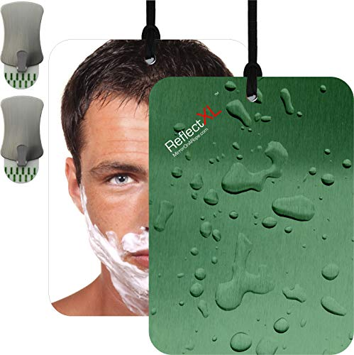ReflectXL Shower Mirror by Mirror On A Rope. Our Largest Mirror. Shatterproof. Easily Eliminate  ...
