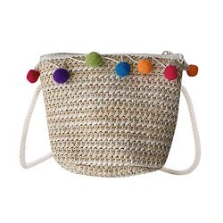 CCFAMILY Children Lovely Weaving Bag Shoulder Messenger Coin Purse Pack For Child