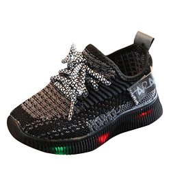 Lovewe Children Led Light Luminous Running Sport Boots Shoes, Breathable Mesh Sneaker for Toddle ...