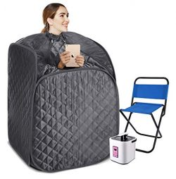 Portable Steam Sauna Spa, 2L Personal Therapeutic Sauna for Weight Loss Detox Relaxation at Home ...