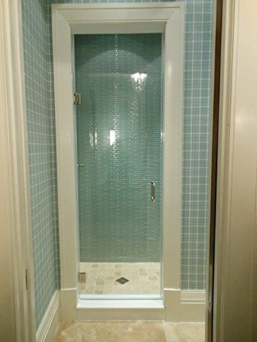 24″-28″ Frameless Shower Door with Brushed Nickel or Chrome Hardware Combo