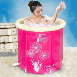 Plastic Bathtub,Inflatable Bathtub Adult with Drain, Portable Foldable Free Standing Soaking Bat ...