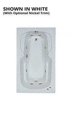Watertech – 6036bw White Whirlpool Bath (60 in. x 36 in.)
