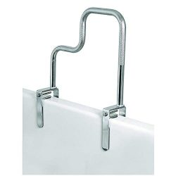 Carex Tri-Grip Bathtub Rail with Chrome Finish – Bathtub Grab Bar Safety Bar For Seniors a ...