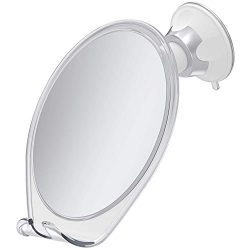 HoneyBull Fogless Shower Mirror for Shaving | Shatterproof with Suction Cup & Razor Hook
