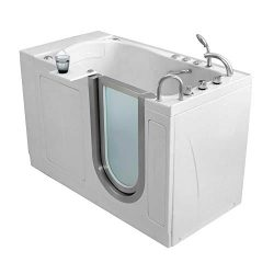 Ella's Bubbles H3118 Ella Royal Hydro Massage Acrylic Walk-in Bathtub with Right Inward Sw ...