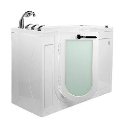 Ella's Bubbles OA2660HM-L-HB Lounger Hydro Massage and Microbubble Walk-In Bathtub with Le ...