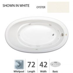 Jacuzzi GAL7242WRL2XXY Gallery 72in x 42in Drop In Comfort Whirlpool Bathtub, Oyster