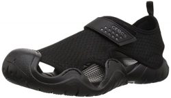 Crocs Men's Swiftwater Sandal M Flat Black, 12 M US