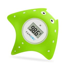Baby Bath Thermometer with Room Thermometer – Famidoc FDTH-V0-22 NEW Upgraded Sensor Techn ...