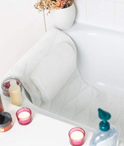 Bath Tub Pillow Rest: Quilted Full Body Bathtub Pillow for Neck, Shoulder, Back Support and Head ...