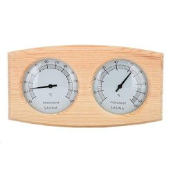 ☀ Dergo ☀Sauna Thermometer&Hygrometer 2 In 1 Wood Hygrothermograph Sauna Room  ...