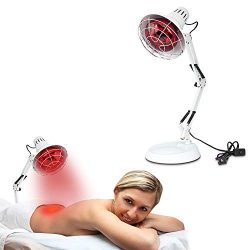 New 150W Near Infrared Light Red Light Therapy Heat Lamp Set for Body Muscle Joint Pain Relief w ...