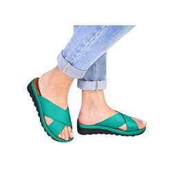 Women's Aditi Low Wedge Dress Sandals Casual Flip Flops Buckle Strap Wedges Sandals Platfo ...